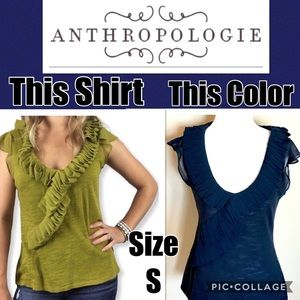 Anthropologie Deletta Trickle Down Top Size Small
